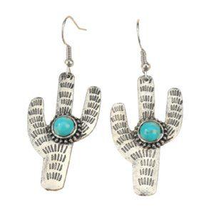 3/$30 Cactus southwestern boho dangle earrings